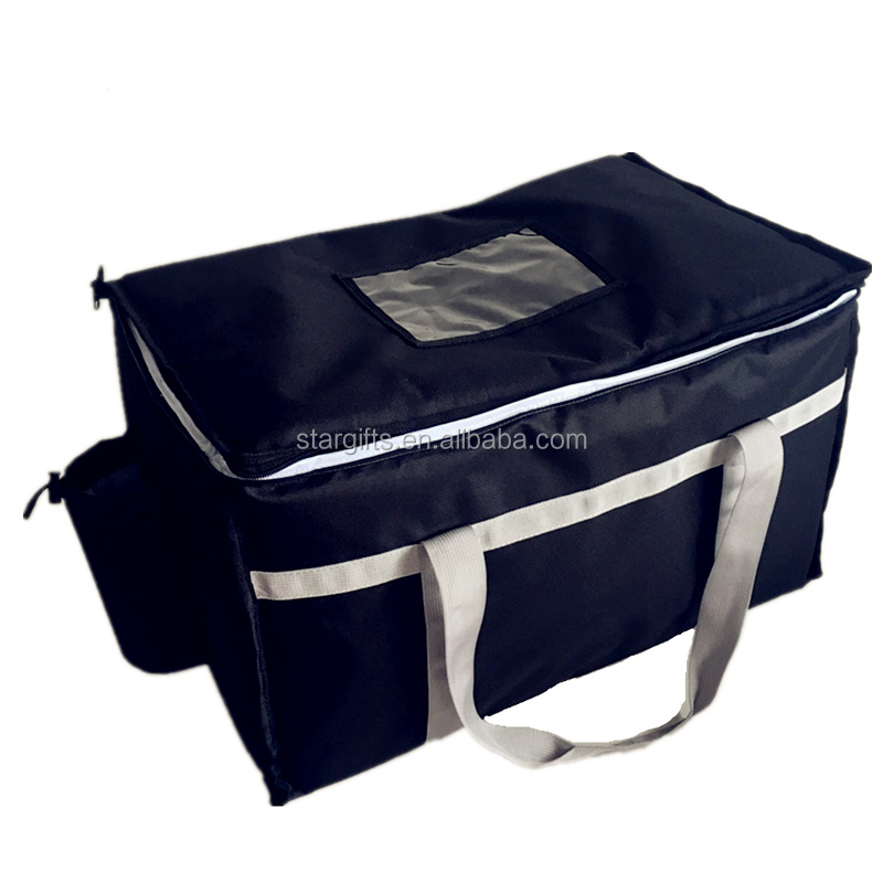 High quality reusable large soft sided restaurant delivery food cooler bag
