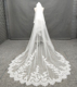 Delicate Lace Trim Long Veil Cheap Wholesale Wedding Accessory Veil Bridal Veils
