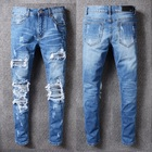OEM FOG skinny distressed leather biker dropshipping stock jeans
