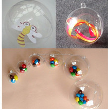 Brand NEW Clear Plastic Acrylic Fillable Ball Ornament 80mm