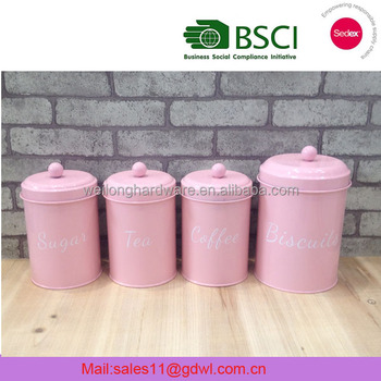 Canister Storage Sets Bottles Jars Type And Iron Metal Tea Coffee Sugar
