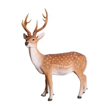 Wholesale Christmas decorations garden decor forest animal resin sika deer figurines