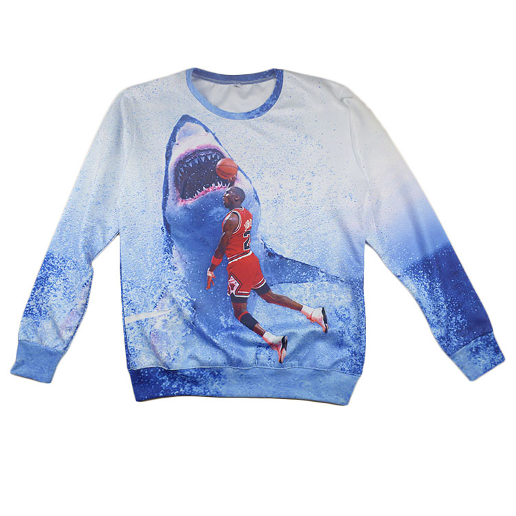 ad814cbc358a6d Buy 2015 New fashion spring women mens jordan hoodies 3d print ocean shark  pullover sweatshirt clothing plus size S-XXL in Cheap Price on m.alibaba.com