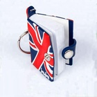 Custom fashion mini book design keychains supplier 2D/3D soft rubber keyring liquid filled PVC notepad keychain