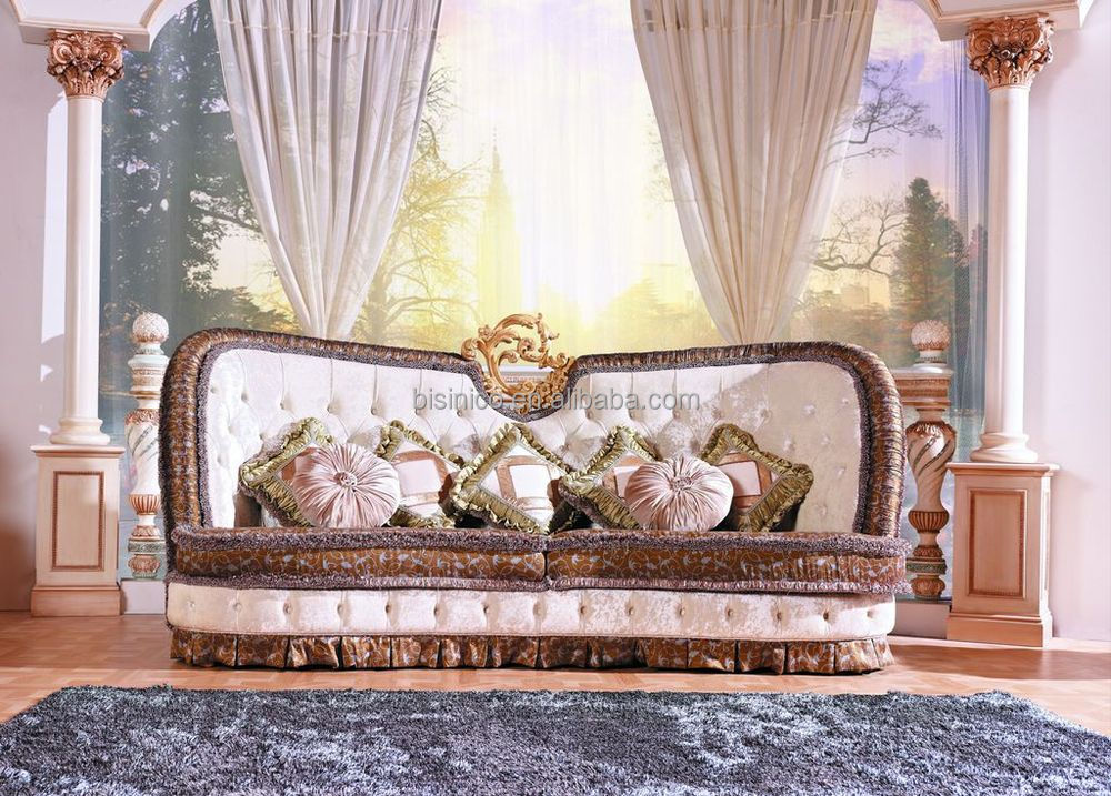 Luxury Victorian Style Living Room Furniture Sofa Set Royal Palace