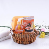 papaya bath and body gift set with shower gel ,sponge,bath salt-462114705