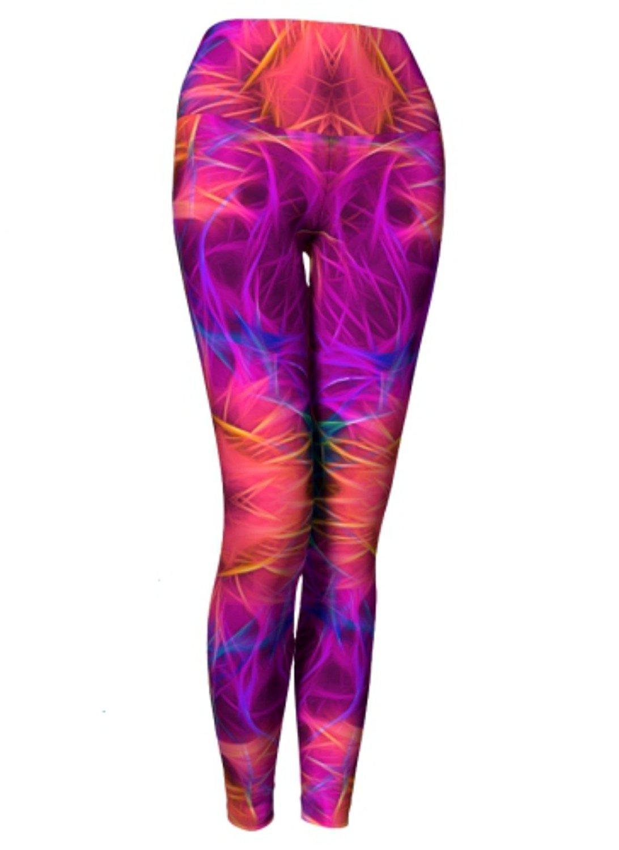 9a40747196 be! yogawear Eco Friendly Yoga Leggings RADIKON Printed Yoga Pants Boho  Artwear Custom Print Leggings