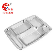 Stainless Steel Military Mess Tray Compartment Disposable Food Tray