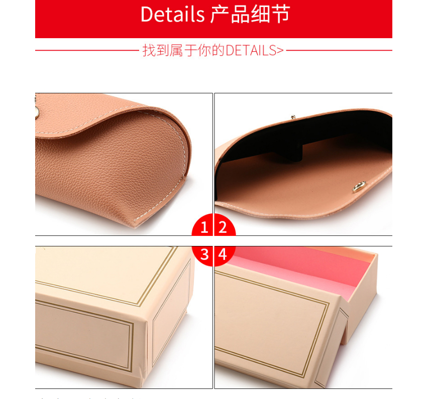 HJ Wholesale Brand Design Eyewear High Quantity Luxury Package Kit Set Cases Box Customized Sunglasses Bags Optical Leather Case
