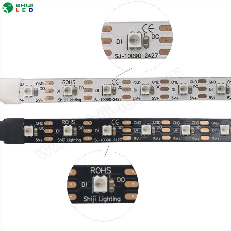 7mm Addressable Rgb Waterproof Sk6805 2427 5v Rgb Strip Light Usb Led  Stripe - Buy Led Stripe,5v Rgb Led Strip Light Usb,Sk6805 2427 Strip  Product on