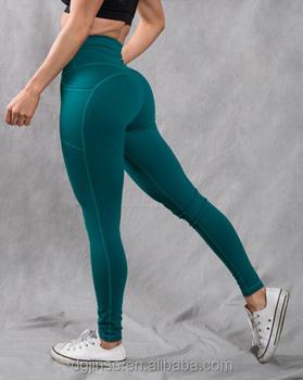 7ef71403d1b6f Womens Yoga Pants With Custom Logo High Waist Running Leggings With Pockets