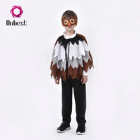 Owl Animal Design Capes Kids Carnival Cosplay Party Costumes With Mask