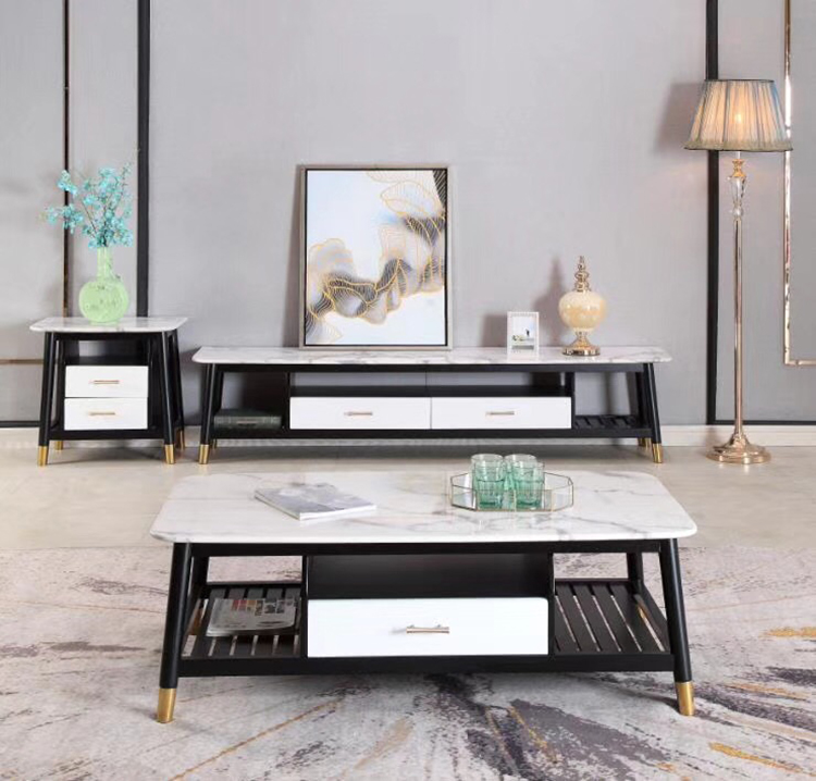 Modern design TV cabinet set living room furniture for small apartment for hotel