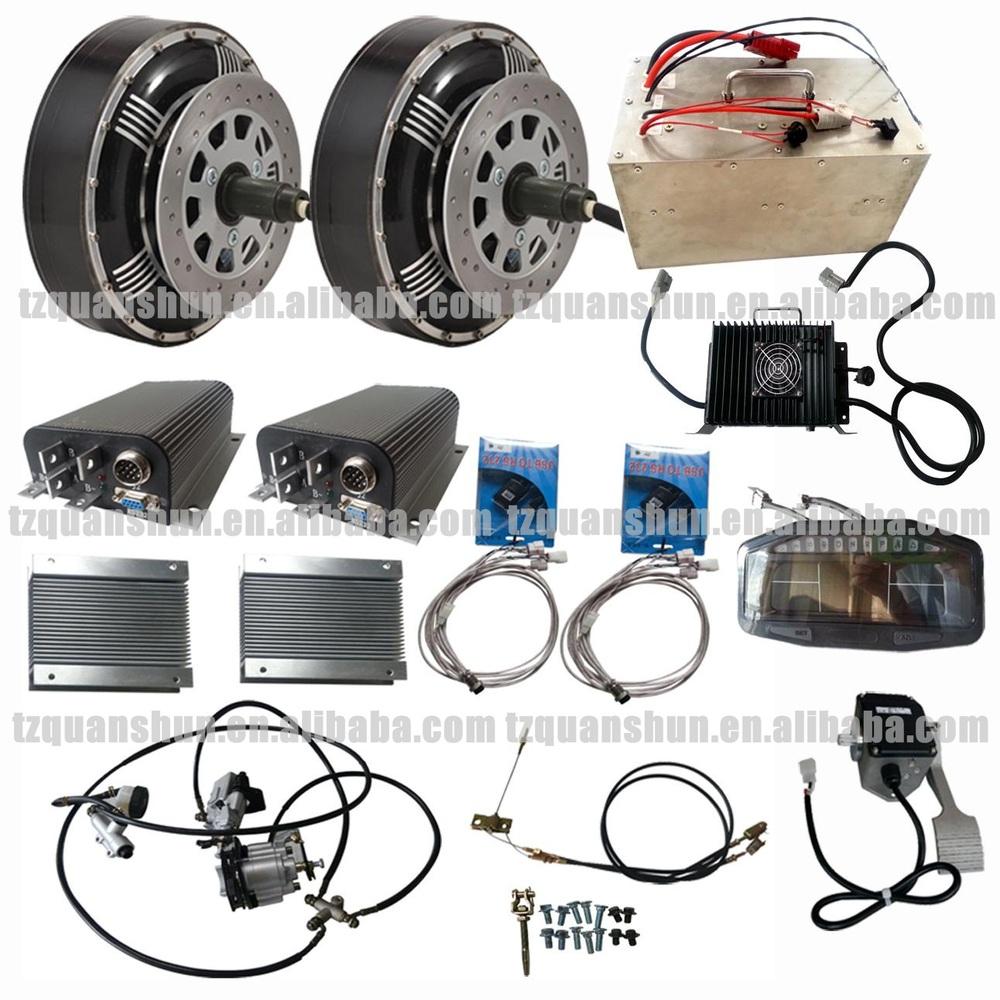 Solar Powered Electric Motor Kit: Qs Dual 8kw 8+8kw Hub Motor Electric Hybrid Car Conversion