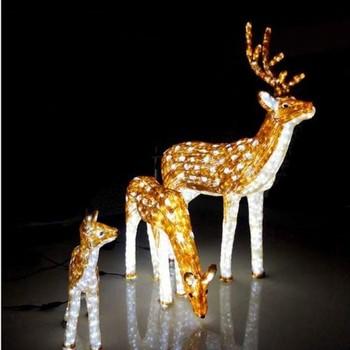 led motif light 3d outdoor christmas reindeer lights