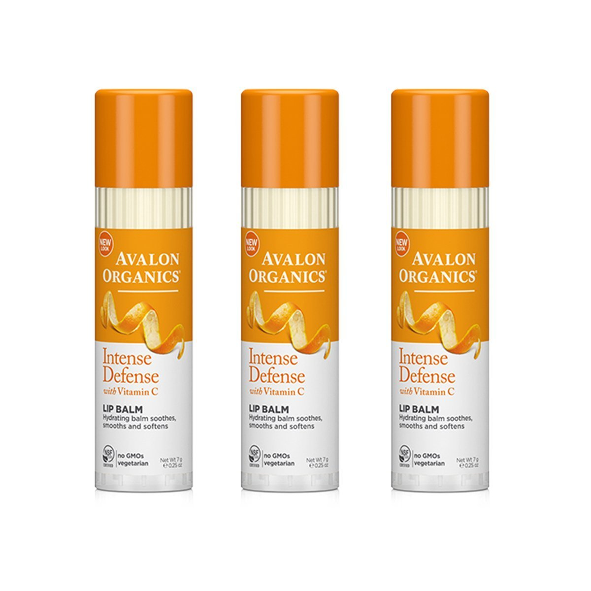 Avalon Organics Vitamin C Soothing Lip Balm With Antioxidant Protection - 0.25 Oz, 3 Pack Kiehls Cilantro & Orange Extract Pollutant Defending Masque - 75ml/2.5oz