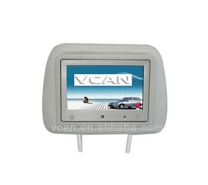 "Hot sale 7"" Android4.0 Taxi removable car headrest monitor 1920*1080 Advertising player with 3G Wifi Boday Sensor for sale"
