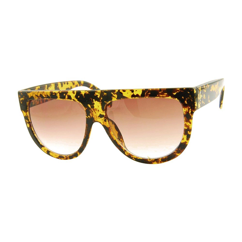 ced8b568d7d Get Quotations · ROXX- Oversized Stylish Womens Mens Celebrity Flat Top  Sunglasses