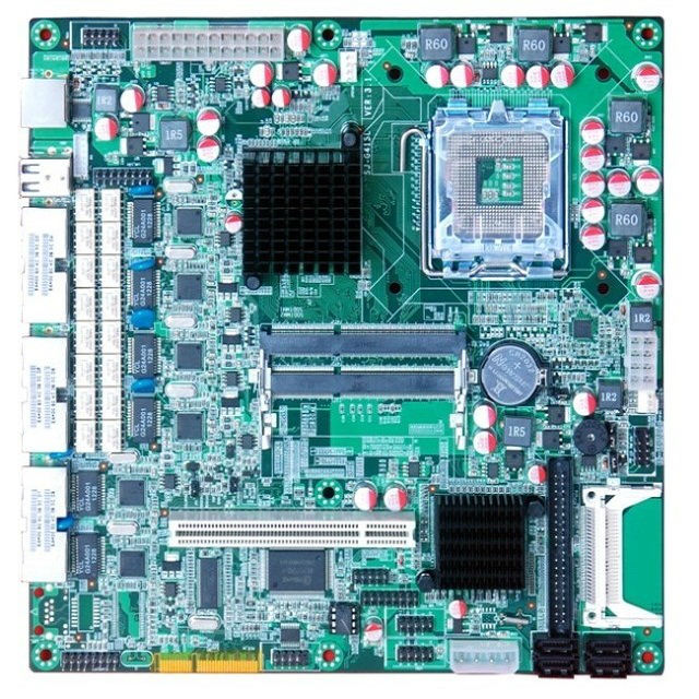 Mini itx motherboard for 6 LAN G41MF6,Intel Core 2,G41,LGA775,GMA4500,6*Intel 82574L LAN Software route,Hi-Spider Router BYPASS