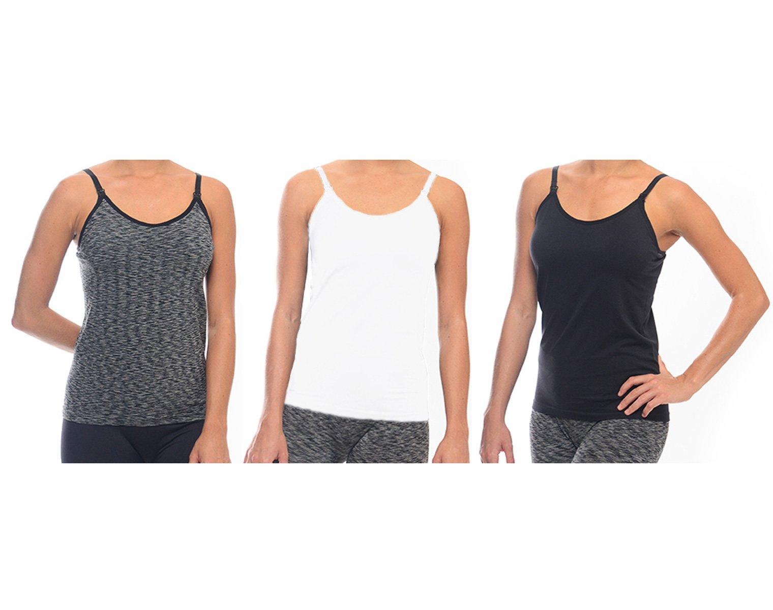 31e3dbe67c890 Get Quotations · SUIEK Nursing Tops Tank Shirt Cami Sleep Bra For Maternity  and Breastfeeding 3PCS/Pack