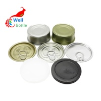 metal ring pull tin can empty tuna fish 100ml tin cans in stock MC-007C