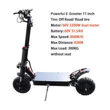 80 км/ч мощный E скутер 60V 3200W электрический мотор эпицентра 35A Samsung батарея электрический скутер взрослый складной Лонгборд скейтборд(Китай)