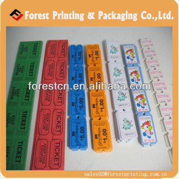 perforated arcade tickets raffle ticket printing view arcade ticket