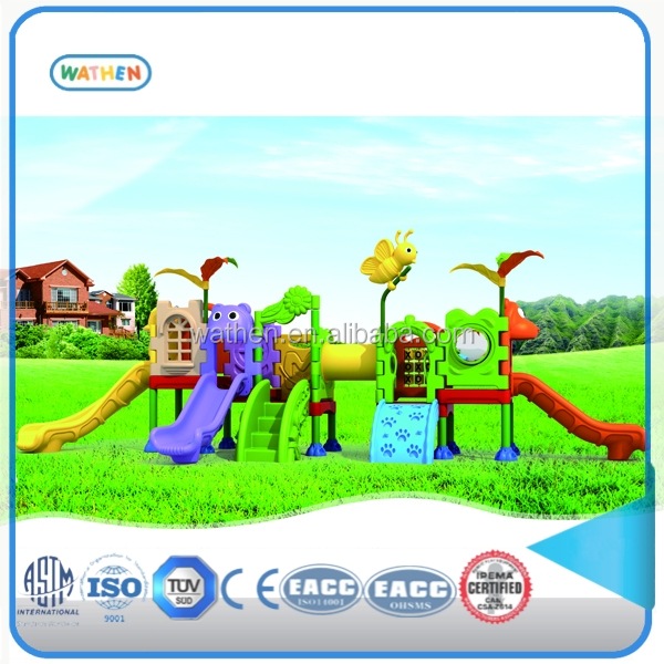 The most popular plastic kids outdoor playground with mini style design for child playing toys and games