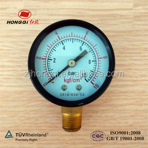 50mm(2 inch) water pressure gauge lowes with glasses dial