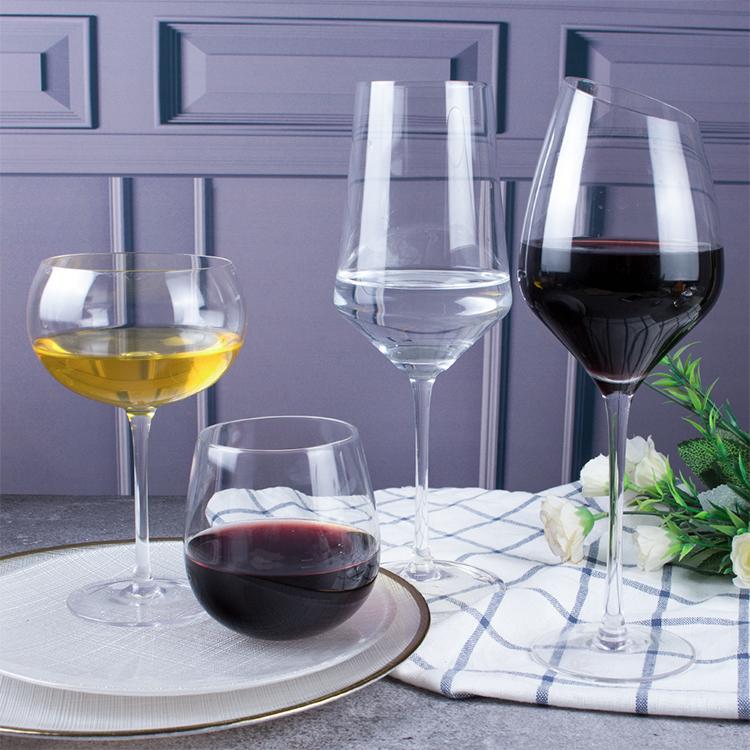Wholesale Handmade Custom stemmed crystal goblet red wine glass