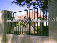 iron fence with wall