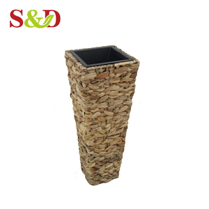 Party decoration different size flower pot cane plant pots for garden
