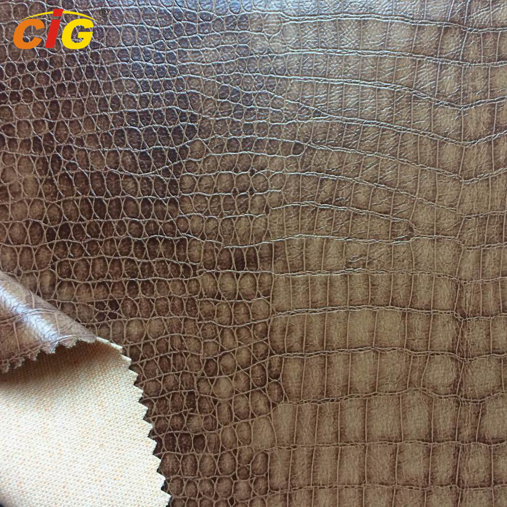 Crocodile design PU Synthetic Leather for Sofa and Chairs / Upholstery