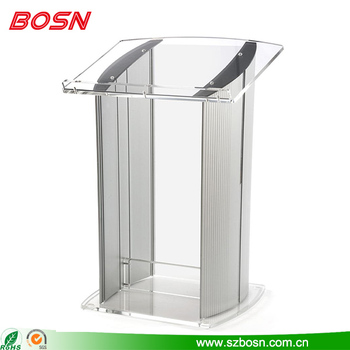 Acrylic Lectern with Aluminum Body Acrylic Pulpit Acrylic Rostrum
