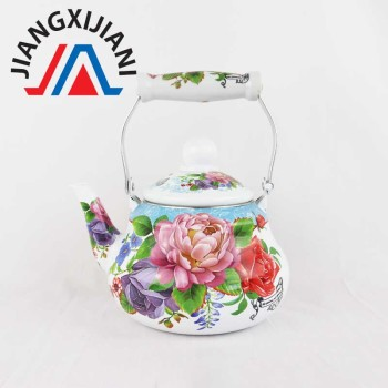Ceramic handle enamel kettle good quality teapot