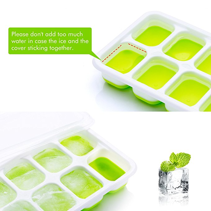 Silicone square ice cube trays with lids ice molds silicone for square ice cube tray