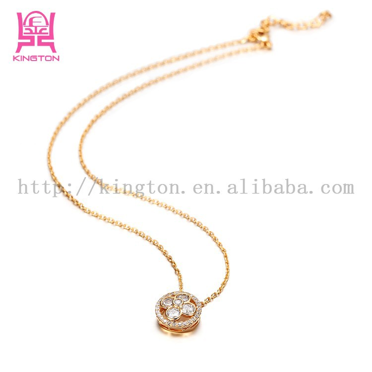 fashion 24 carat gold jewelry crystal diamond necklace