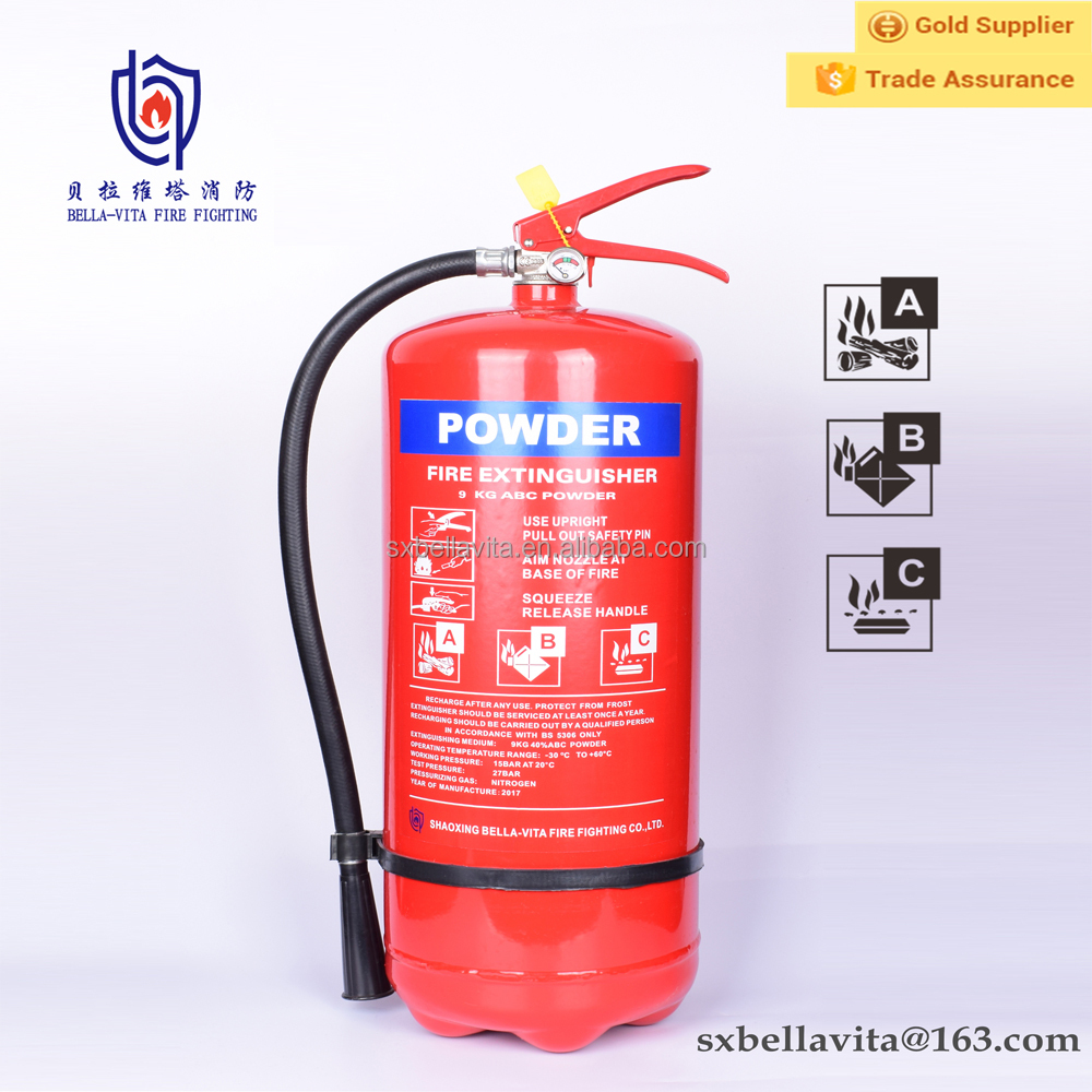 Ce Certification Cylinder 9kg Abc Dry Powder Fire Fighting