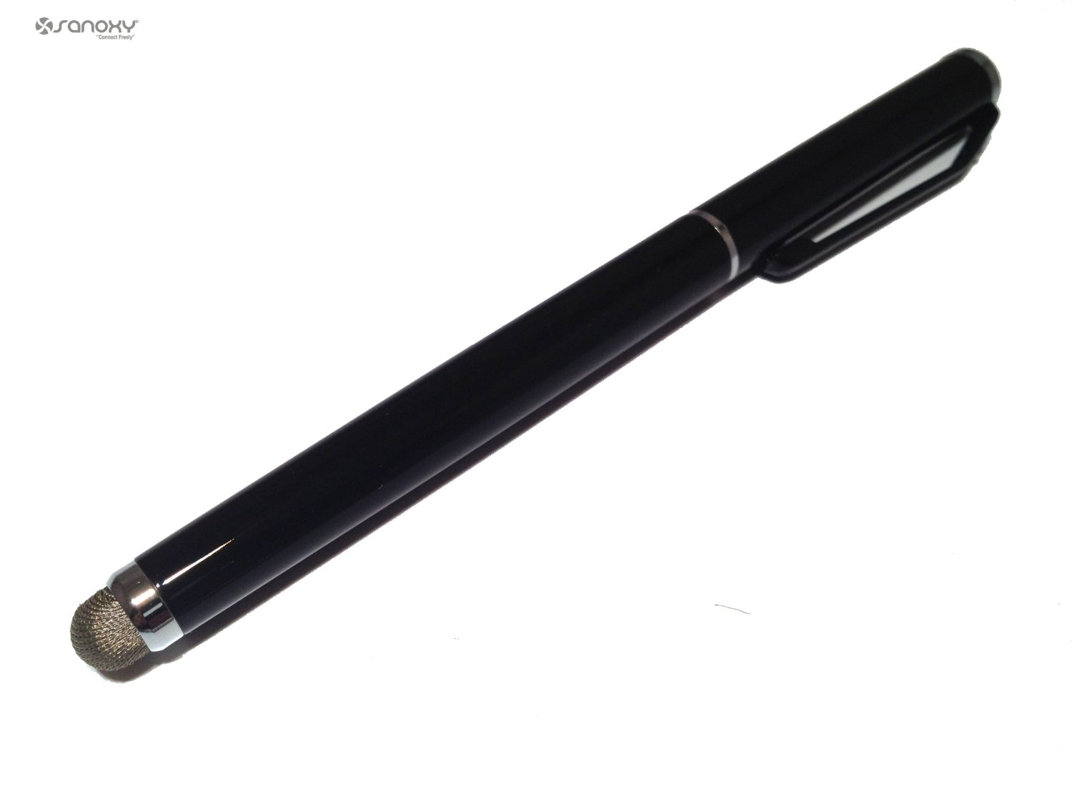 Sanoxy Elegant Conductive Microfiber Fabric Touch Stylus Ink Pen Combo For Htc Ipad Dual