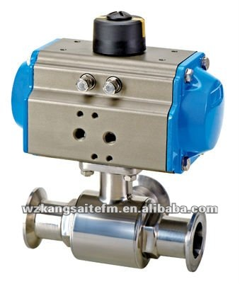 3-way Sanitary Pneumatic Ball Valve,Clamp Ball Valve,Pneumatic ...