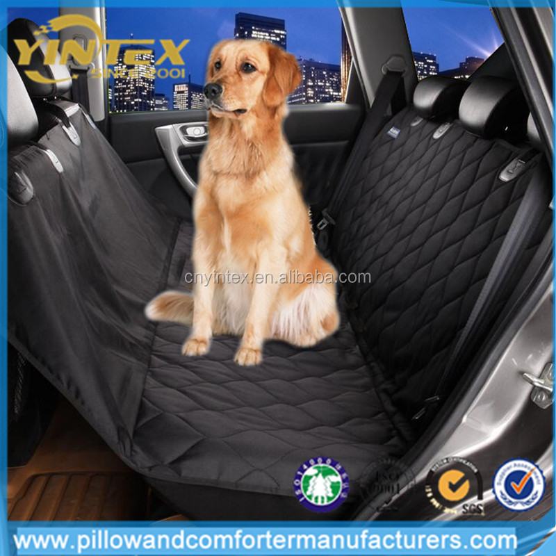 wholesales luxury black funny waterproof dog car seat cover for dog