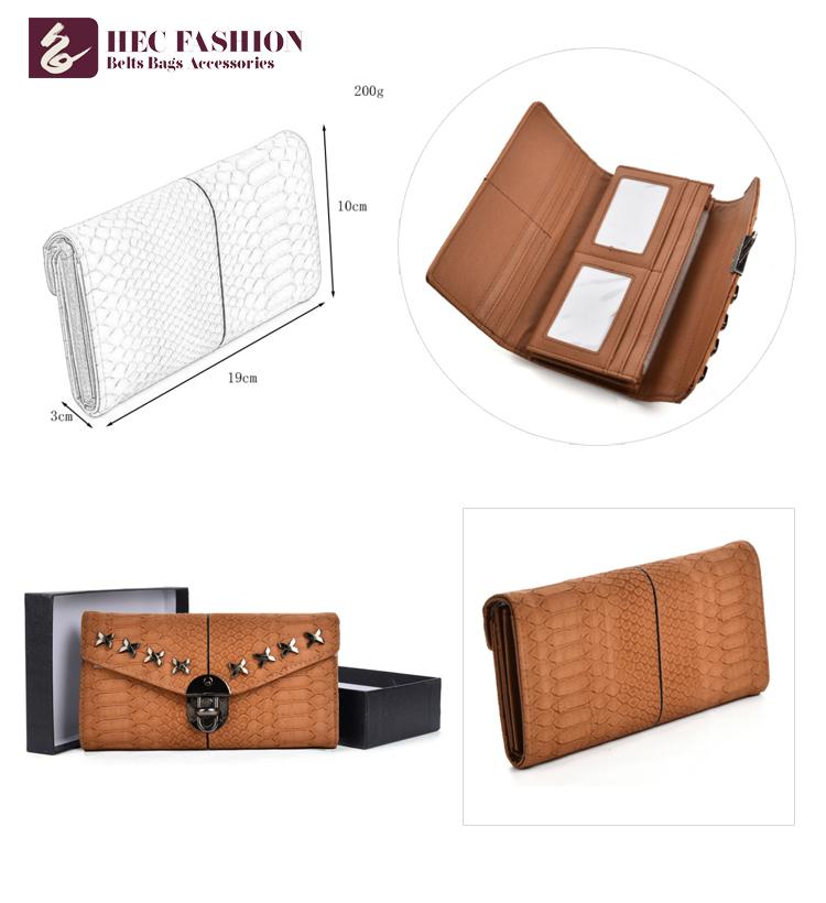 HEC Famous Brand Female Wallet Fancy Design Ladies Money Envelope Purse
