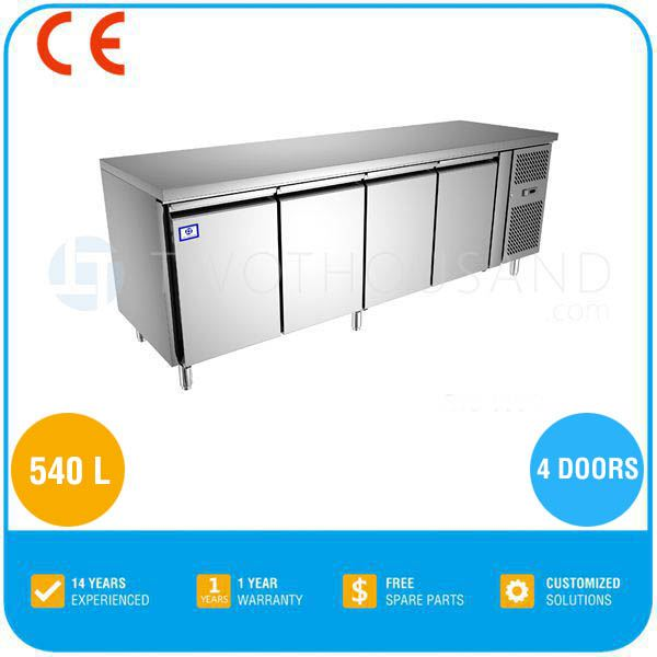 TT-BC282C-1 4 Door Commercial Undercounter Chiller Refrigerator Table