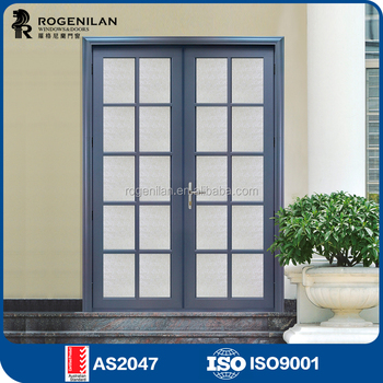 Rogenilan 45 Series Wood Door Design Tempered Frosted Glass Office