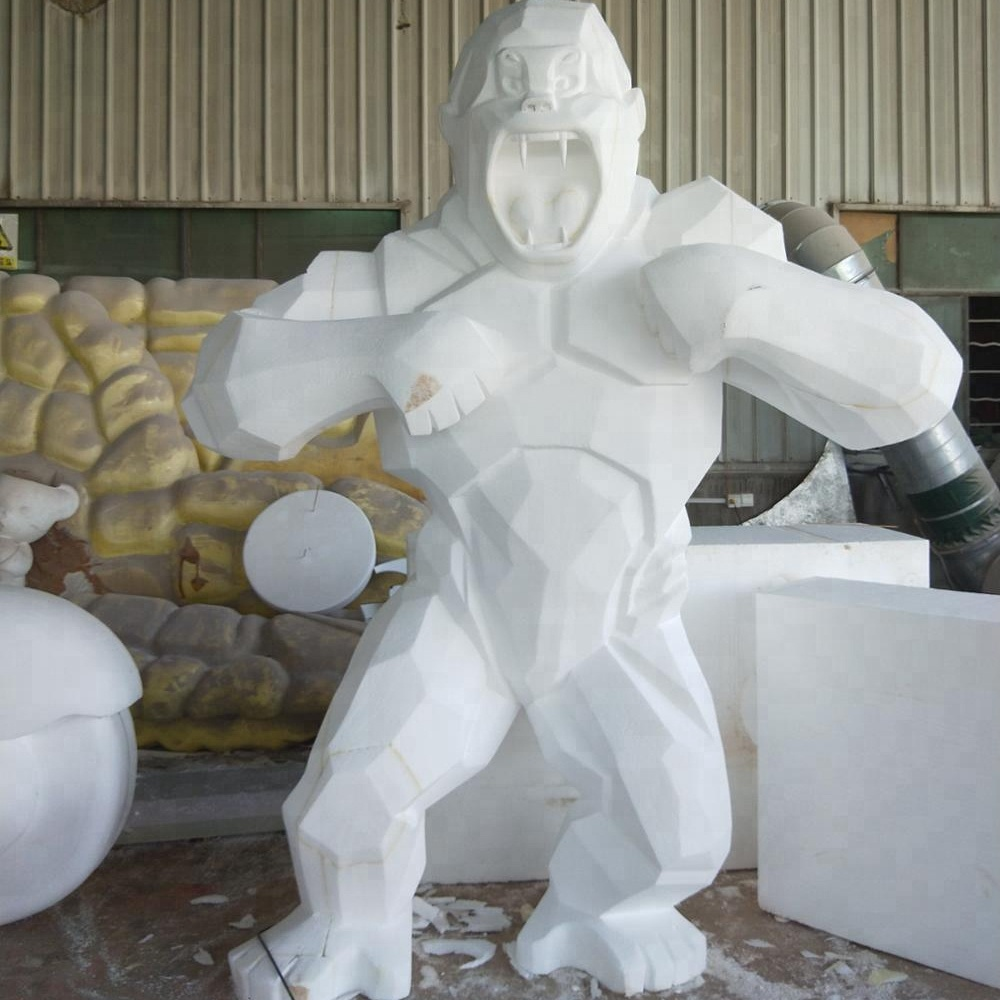 Decorative display gorilla art design make in <strong>resin</strong> or fiberglass sculpture statue