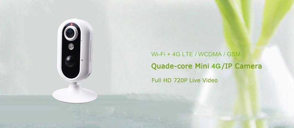 1MP Live Sim không dây 4G Sim Camera Camera an ninh