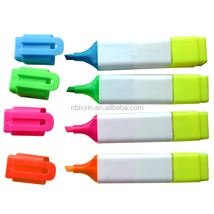 4 Colors Dual Tips Art Sketch Twin Marker Pens Highlighters with Carrying Case
