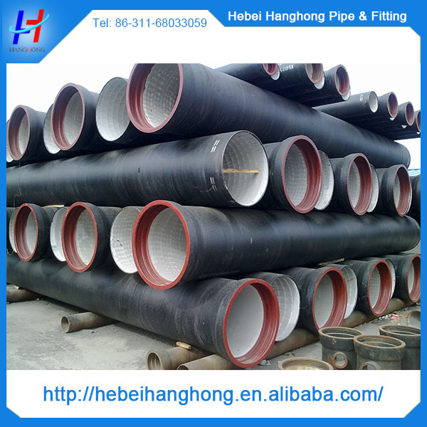 Ductile cast iron pipe k specification