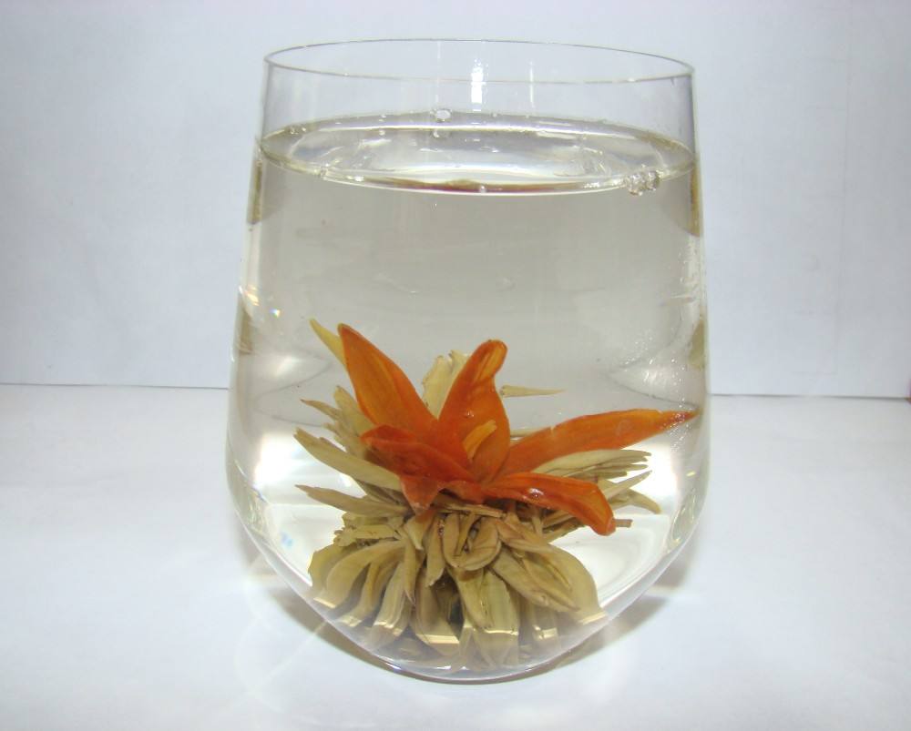 Bai Nian Hao He Eternal Love Blooming tea special green tea with Lily flower - 4uTea | 4uTea.com