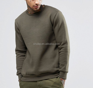 100% cotton fleece popular men plain sweatshirts round neck pullover hoodies wholesale